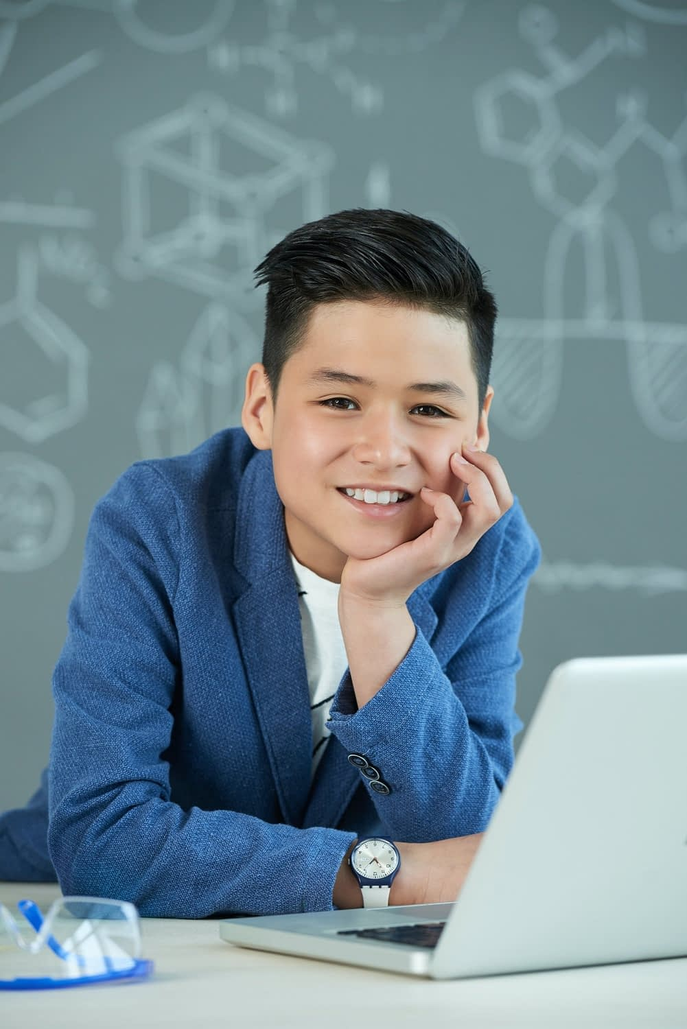 Asian Student with Wide Smile