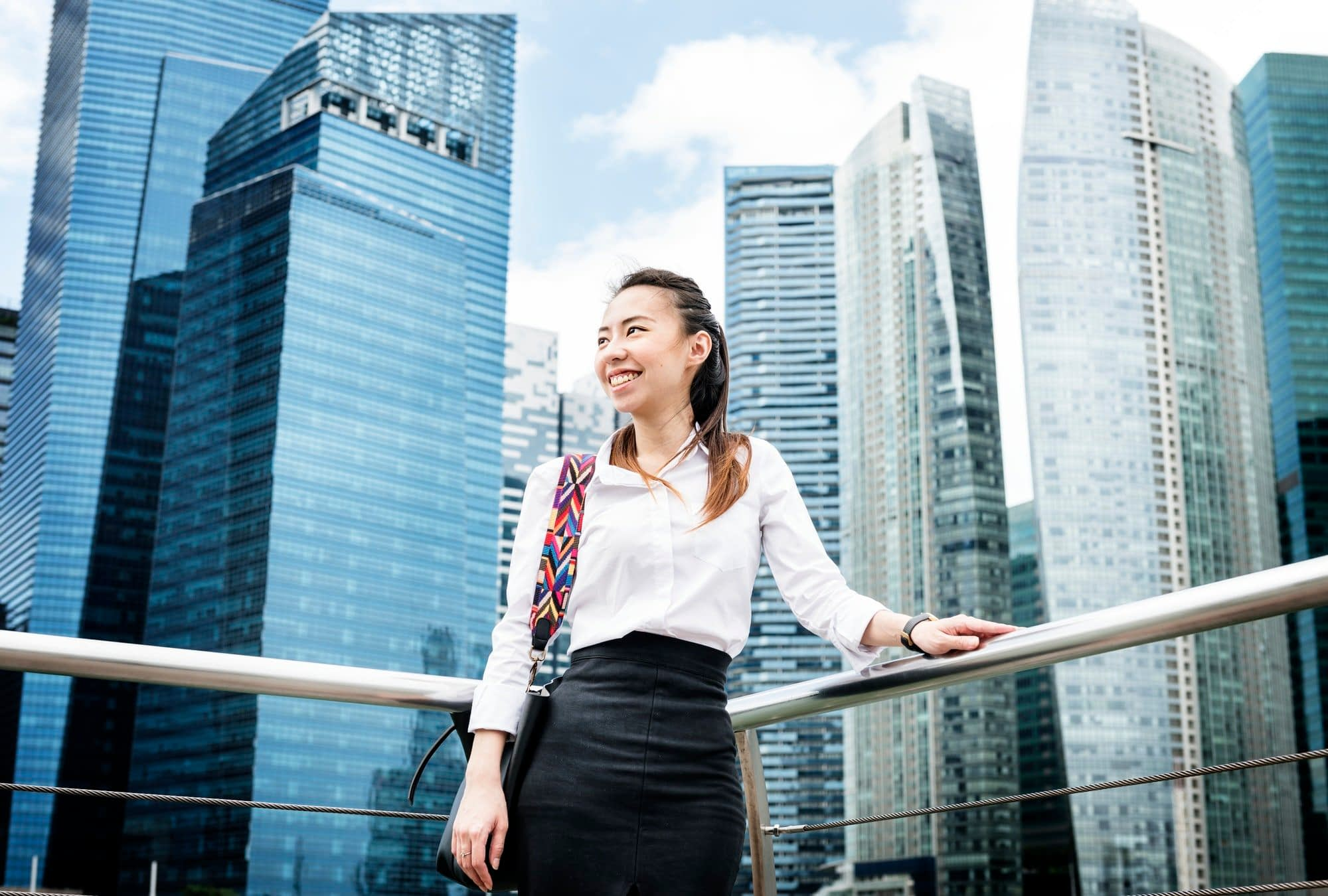 Asian businesswoman in a city